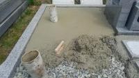 天端コンクリートで重量物を支えます。