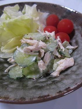 20170811 鶏むね肉きゅうりマスタードマヨ