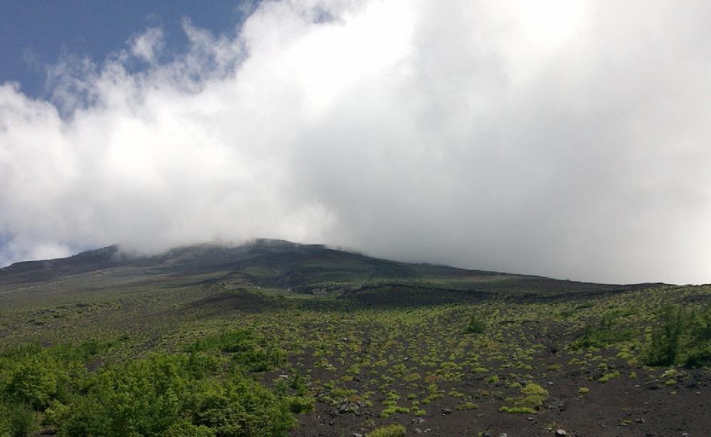 新五合目から富士山頂