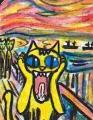 3猫の叫びムンクさけ