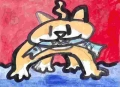 5鮭を銜えた猫
