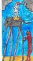 4高所恐怖症の女神高所恐怖症の象に乗る図