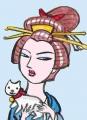 日本髪とねこ (1)