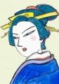 4日本髪青緑色 (1)