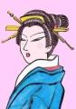 3浮世絵豊国日本髪つぶし島田芸妓