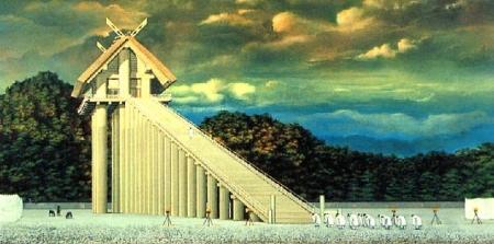 出雲大社の本殿の復元想像図