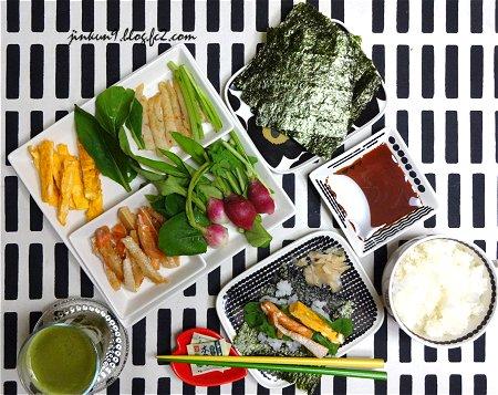 なんとなく09-15 9月15日 野菜だけ買って ストック品で手巻き寿司  2