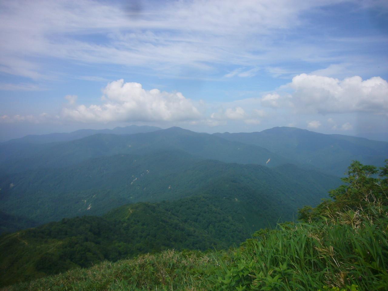 3の峰登りから赤兎、大長、経ヶ岳 H29.7.15