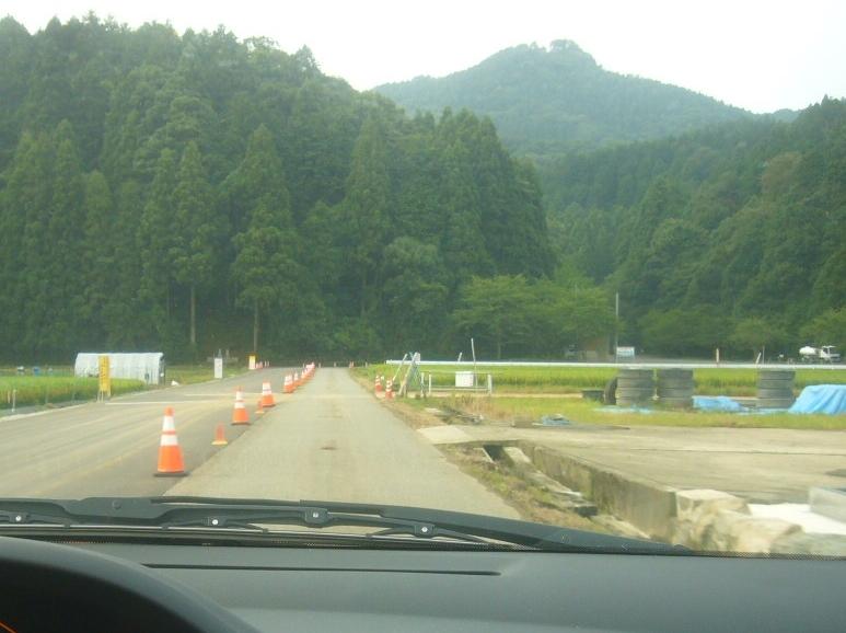 文殊山二上口への道路 H29.8.10