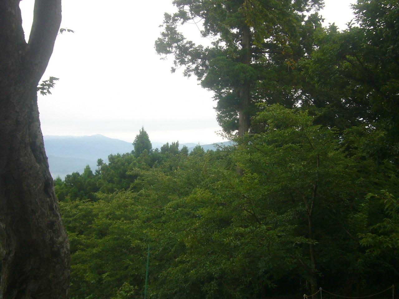 文殊山頂上から白山の方角 H29.8.10