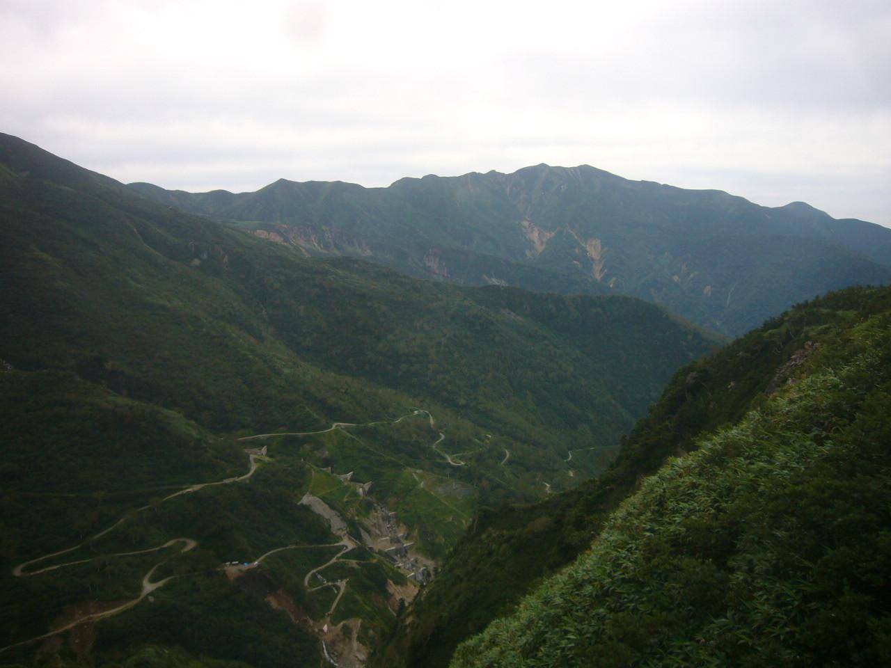 別山と道路工事 H29.9.04
