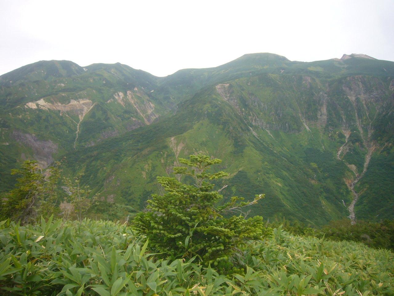左から四塚山、七倉山、大汝峰、御前峰 H29.9.04