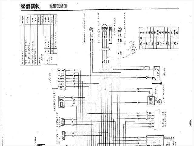 配線図(GSX1100SR)