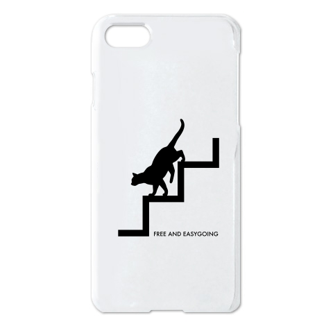 cat_stepping_down_iphone_case