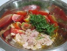 ツナとトマトの和風冷製パスタ 調理④