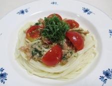 ツナとトマトの和風冷製パスタ 調理⑥