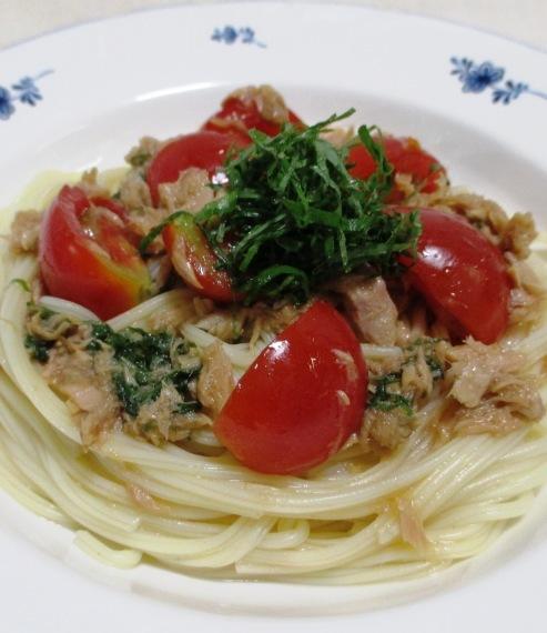 ツナとトマトの和風冷製パスタ B