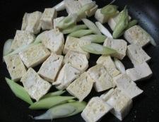 豆腐炒め 調理②