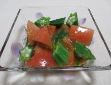 オクラトマト 調理④