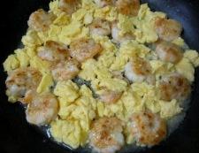 海老たまレタス炒め 調理⑤