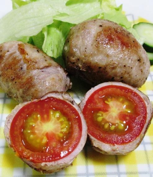トマトの肉巻き B