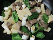 牛肉と筍オイスターソース炒め 調理⑤