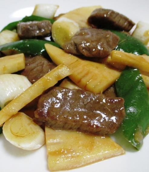 牛肉と筍オイスターソース炒め 大