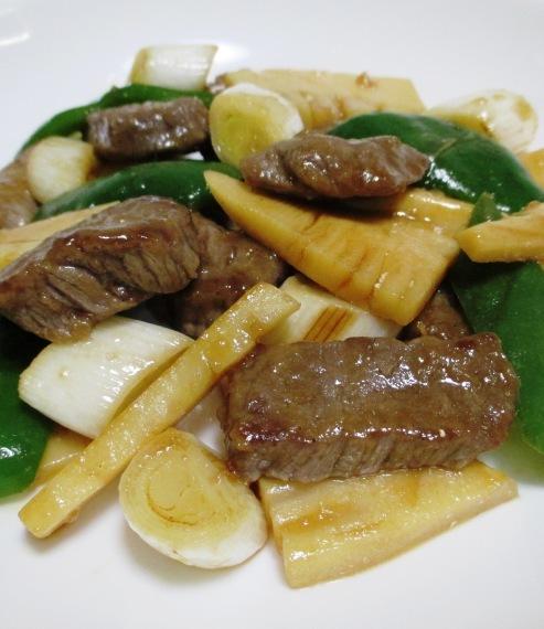 牛肉と筍オイスターソース炒め B