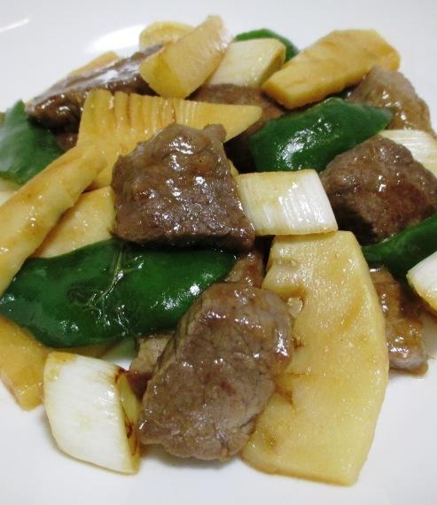 牛肉と筍オイスターソース炒め 拡大