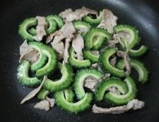 ゴーヤと絹揚げのピリ辛炒め 調理④