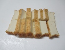 ゴーヤと絹揚げのピリ辛炒め 調理①
