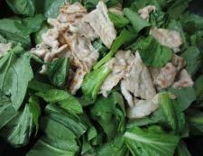 豚こまと小松菜のオイバターソース炒め 調理⑤