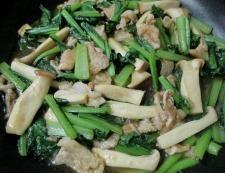 豚こまと小松菜のオイバターソース炒め 調理⑥