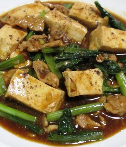 小松菜麻婆豆腐 拡大