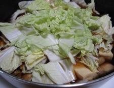 鶏もも肉と白菜のすき焼き風煮物 調理⑤