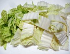 鶏もも肉と白菜のすき焼き風煮物 調理①