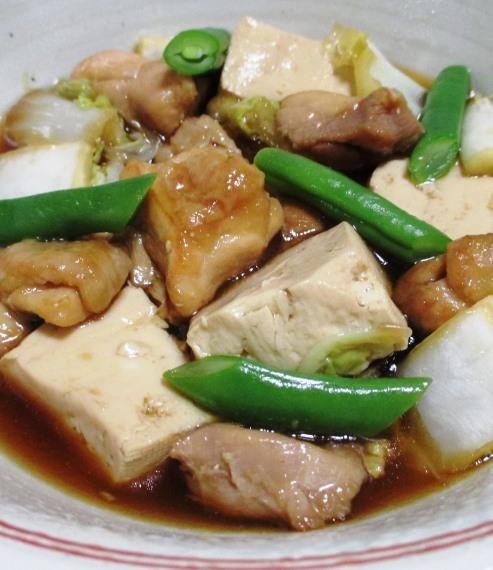 鶏もも肉と白菜のすき焼き風煮物 拡大