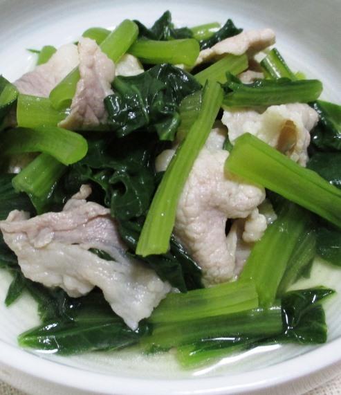 豚こまと小松菜 B