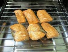 秋鮭の焼きびたし 調理②