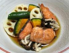 秋鮭の焼きびたし 調理⑥