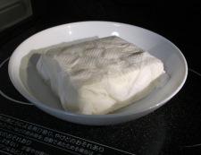 豆腐とトマト 調理①