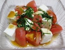 豆腐とトマト 調理④