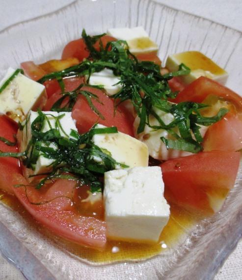豆腐とトマト 大