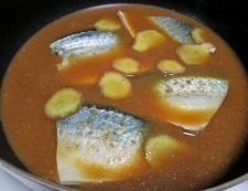 サバの味噌煮 調理③