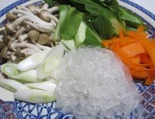 シューマイと春雨のピリ辛鍋 調理②