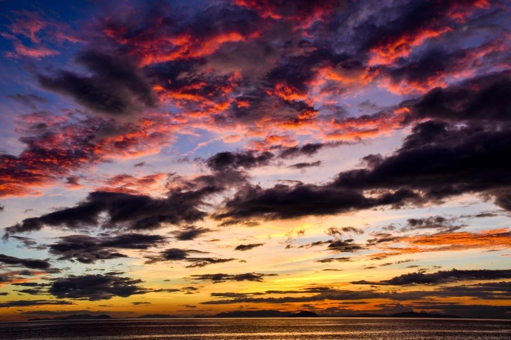 編集ブログ 松前の海の夕暮れ-5-1