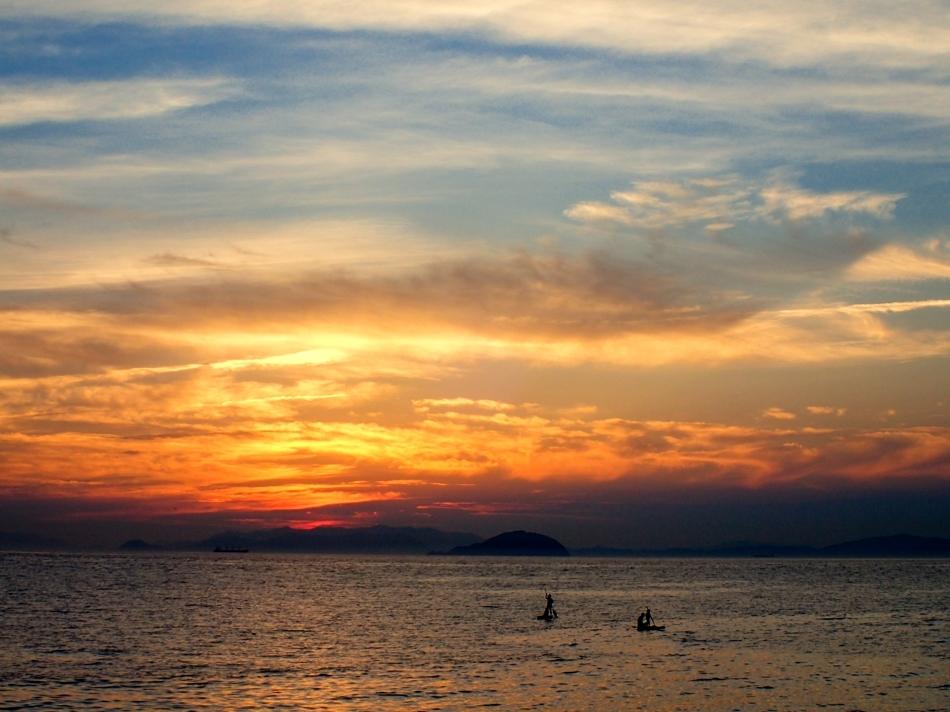 編集blog29年8月松前の夕焼け-1-1