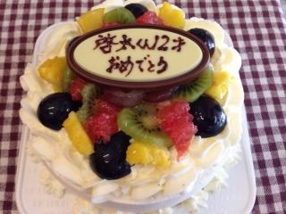 夏のデコレーションケーキ