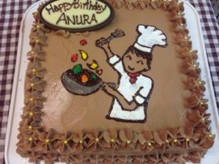 コックさんケーキ