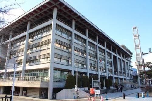 0255:大津市庁舎 本館を南側から